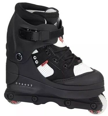 ANARCHY CHAOS 3 AGGRESSIVE  ROLLER SKATES BLADES BOOTS size 11 UK (come small)