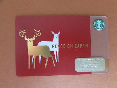2014 Starbucks Coffee Peace on Earth Holiday Gift Card Canada no value