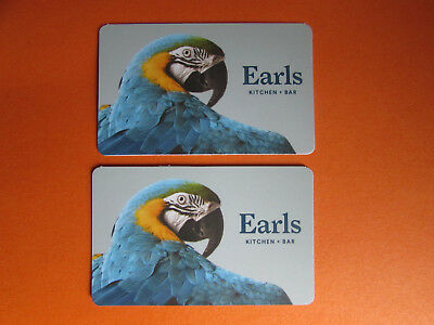 Earls Gift Card Bar Kitchen Blue Parrot Canada No Value