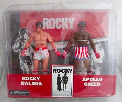 """NECA Rocky Balboa & Apollo Creed Post Fight Bloodied 2 Pack Action Figures 7"""""""