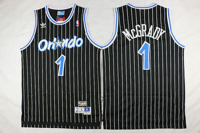 New Orlando Magic #1 Tracy McGrady Basketball Jerseys Black Size:S-XXL