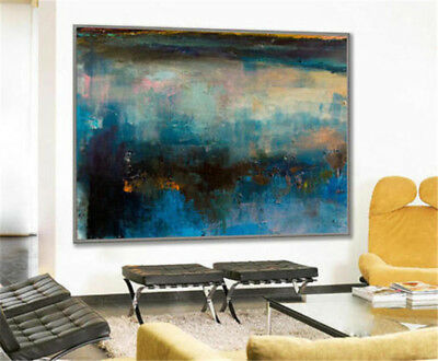 HH371 Modern Decoration Canvas Abstract oil painting Color art Hand-painted