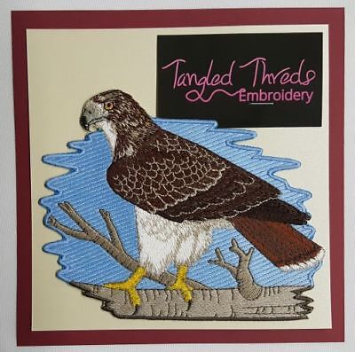 """Red-Tailed Hawk Embroidered Patch 6.4"""" x  5"""""""