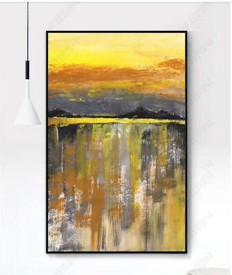 HH374 Hand-painted oil painting Abstract Scenery Modern Home Decoration art