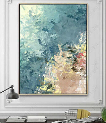 HH378 Modern Hand-painted Simple Abstract oil painting Canvas Color art