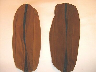 Brown leather pencil case with zip, new pack of 2