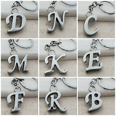 Letter Initial Alphabet Keychain keyring with gift bag