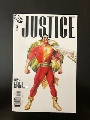 JUSTICE (2006) # 5 ALEX ROSS 2nd PRINT SHAZAM VARIANT LOW PRINT RUN HOT!