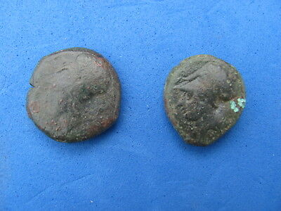 Wonderful RARE Lot of ( 2) Greek coins  of Sicily  Hippocamp