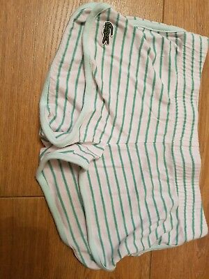 girls lacoste stripped shorts