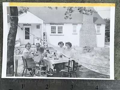 VINTAGE Black and White photo:  Masonville, New Jersey 1954 / Family Picnic