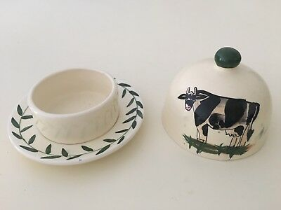Laura Ashley Hand Painted Butter Dish By L.Dake