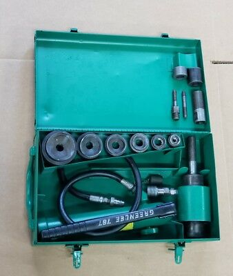 """Greenlee 7306 Hydraulic Knockout Driver Metal Punch Set 1/2 to 2"""" Conduit #1 👍"""