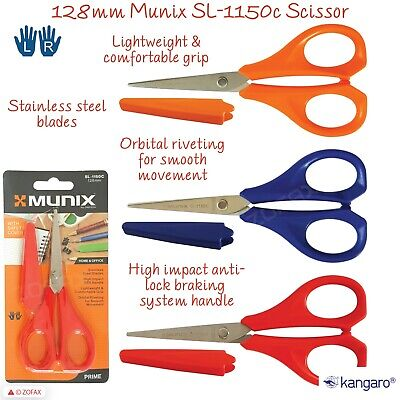 KANGARO 128mm/5inch Multi-Purpose Scissors With Safety Cover Left Right Handed