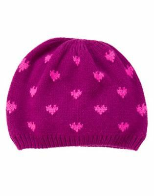 NWT GYMBOREE Bundled and Bright Heart SWEATER HAT Beanie Baby Girl