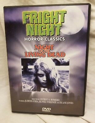 Night of Living Dead Fright Night Horror Classics DVD - LIKE NEW - FREE SHIPPING