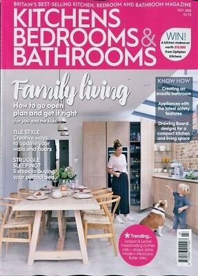Kitchens Bedrooms & Bathrooms Magazine July 2018 ~ New ~
