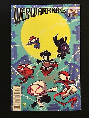 Web Warriors #1 Variant COA Signed by Scottie Young Amazing Spider-Man Gwen NM
