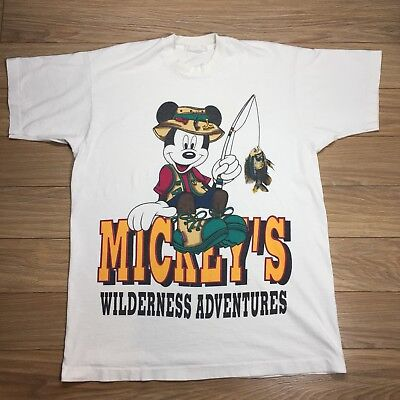 Vintage Mickey By Jerry Leigh Mickey's Wilderness Adventures T Shirt One Size