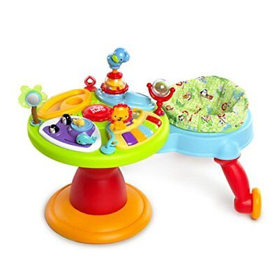 Adjustable Baby Walker Activity Center 3-in-1 Removable Seat Standing Table Toy
