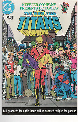NEW TEEN TITANS #1 (1983) Keebler ANTI-DRUG Issue, GEORGE PEREZ Art , VF/NM