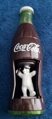Coca Cola Collectible - Plastic Wind-Up Polar Bear Coke Bottle Burger King