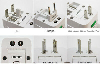 Universal All-in-one Adapter Plug Converter US/UK/AU/EU Travel Safety shutter
