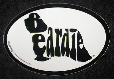 Bearded Collie Beardie Oval Euro Style Car Dog Decal Sticker