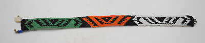"""African Zulu Beaded Choker Fetish Necklace South Africa 14.5"""""""