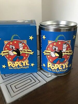Popeye Watch In Tin Can 75Th Anniversary 2004 Works New In Box