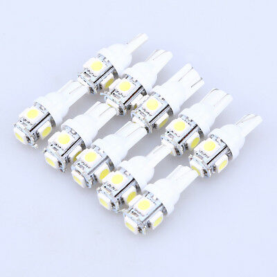 10pcs T10 5SMD 5050 Car LED Light Bulbs White Wedge Tail Lamp Universal Set for