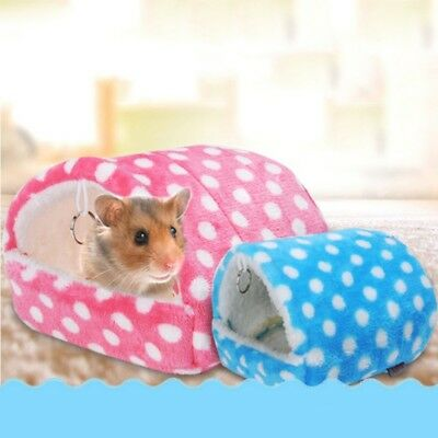 Small Animal Pet Warm Nest Hamster Guinea Pig Squirrel Cage Soft Pad Bed House