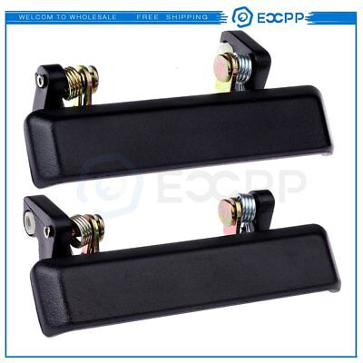 Front Black Door Handle Outer Left &Right Side Pair Set for 86-95 Suzuki Samurai