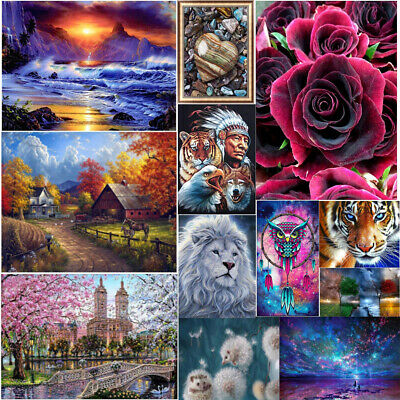 Full Drill DIY 5D Diamond Scenery Embroidery Art Painting Kits Home Decors Craft