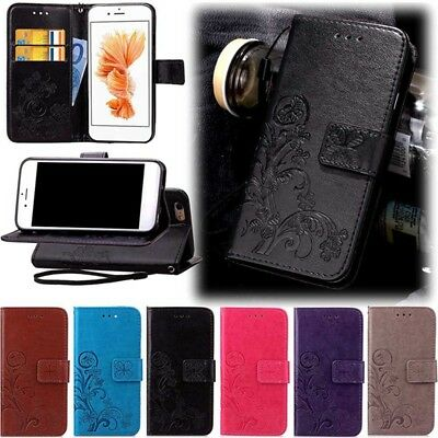 Coque Etui Housse Portefeuille Flower Luxe Cuir Neuf Pour IPhone 5 6 7 8 X Case