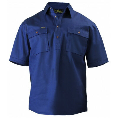 NEW Bisley Shirts  Closed Front Drill Shirt Navy - in Navy - 5XL - Safety