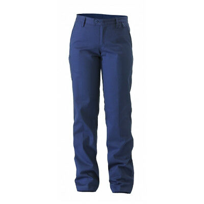 NEW Bisley Pants  Ladies Drill Pant Navy - 22 - Safety Clothing -  Clothing