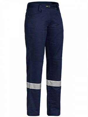 NEW Bisley Pants  Womens Taped X Airflow Vented Pant - in NAVY - 14 - Safety