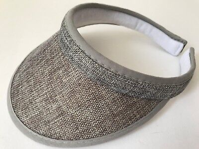 GIRLS' CLIP ON SUN VISOR KIDS HAT Polyester  Tennis Golf Beach Cap Gray