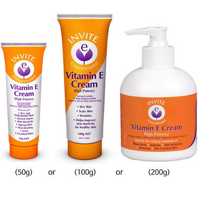 Invite Vitamin E Cream (with Tracking) Dry Cracked Skin Scar Daily Help Treat