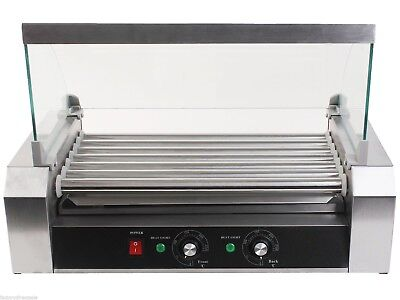 18 Hot Dog 7 Roller Grill Electric Cooker Commercial Home Machine Food Grilling