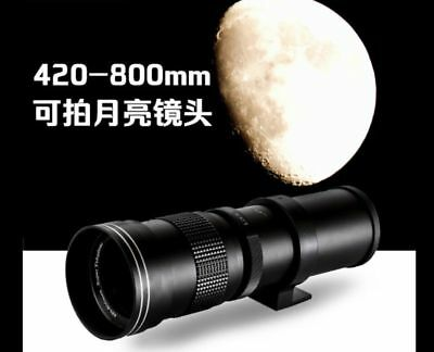420-800mm F8.3-F16 Super Telephoto Zoom Lens for Sony A7 A7R A6000 NEX E-Mount