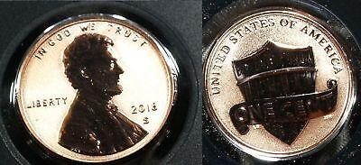 2018 S Reverse Proof Lincoln Shield Penny