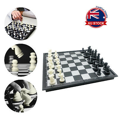 25 x 25cm Foldable Magnetic Chess Box Set Educational Board Contemporary Games H