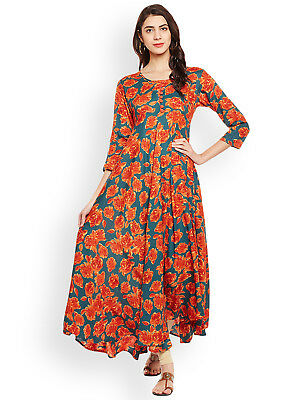 Indian Bollywood Designer New Stylish Printed Kurta Kurti women ethnic dress-k39