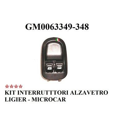Interruttori Alzavetro In Kit Ligier - Microcar Gm0063349-348