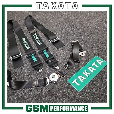 Genuine Takata Black Race 4 Snap On Harnesses / 71000-0