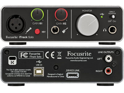 Focusrite iTrack Solo Lightning - Scheda Audio Lightning