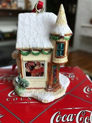 "Coca-Cola Country ""Santa's Corner"" #518 by Lilliput Lane/Ray Day 1996 Ornament"