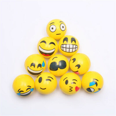 6.3cm Stress Ball Emoji Squeeze Ball Exercise Stress Ball PU Rubber Toy_FT